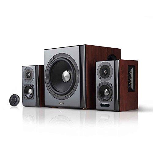 Edifier S350DB Bookshelf Speaker and Subwoofer 2.1 Speaker System Bluetooth v4.1 aptX Wireless Sound for Computer Rooms, Living Rooms and Dens
