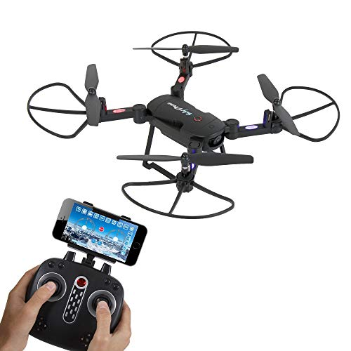 SereneLife Quadcopter - 2.4Ghz Wireless Remote Controlled UAV Drone with 6-Axis Headless Mode for Real-Time FPV System Recording of Pictures and Aerial Video Footages with HD Camera (SLRD18.5)