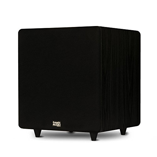 Acoustic Audio PSW500-12 Home Theater Powered 12' LFE Subwoofer Black Front Firing Sub,500 Watts