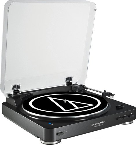 Audio Technica AT-LP60BK-BT Fully Automatic Bluetooth Wireless Belt-Drive Stereo Turntable, Black