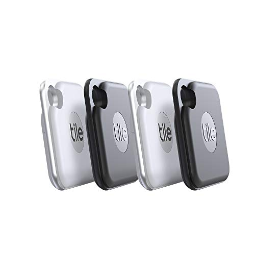 Tile Pro (2020) 4-pack - High Performance Bluetooth Tracker, Keys Finder and Item Locator for Keys, Bags, and More; 400 ft Range, Water Resistance and 1 Year Replaceable Battery