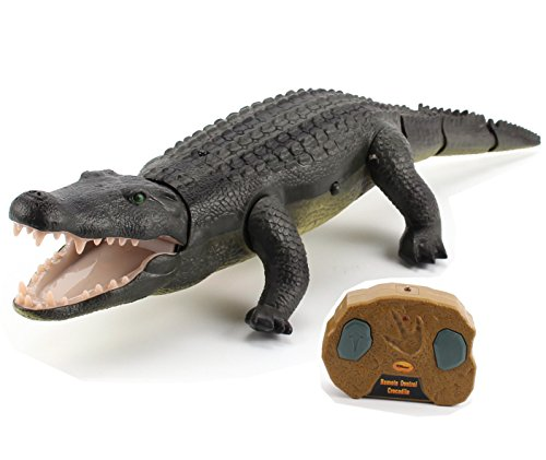 Top Race Remote Control Crocodile, Prank Crocodile RC Animal Toy, Looks Real Feels Real Roars and Moves Like a Real Crocodile (TR-Croc)