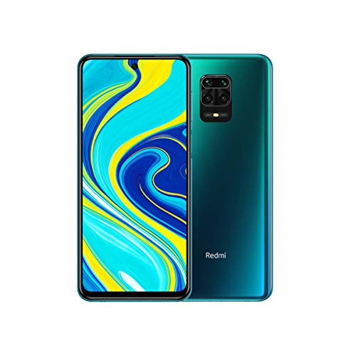 Xiaomi Redmi Note 9S (128GB, 6GB) 6.67', 4K Camera, 18W Fast Charge, 5020mAh Battery, Dual SIM GSM Unlocked 4G LTE (T-Mobile, AT&T, Metro, Cricket) International Model (Blue, SD + Case Bundle)