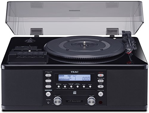 Teac LPR660USBPB LP-Cassette to CD Recorder/USB Home Theater Receiver, Black