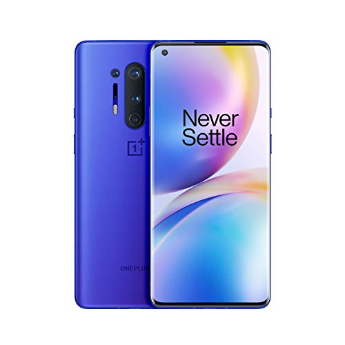 OnePlus 8 Pro (5G) Dual-SIM IN2023 256GB/12GB RAM (GSM + CDMA) Factory Unlocked Android Smartphone (Ultramarine Blue)- International Version