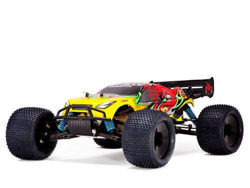 Redcat Racing Monsoon XTR Nitro Truggy, Red/Yellow, 1/8 Scale