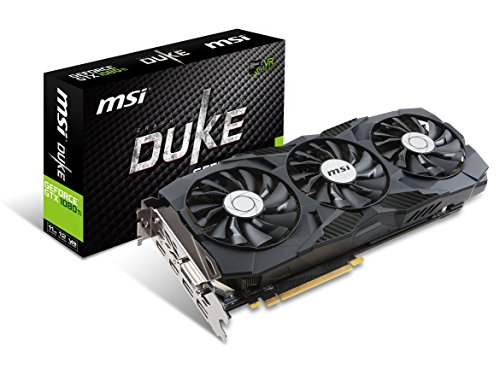 MSI Gaming GeForce GTX 1080 Ti 11GB GDRR5X DirectX 12 352-bit VR Ready Graphics Card (GTX 1080 TI Duke 11G OC) (Renewed)