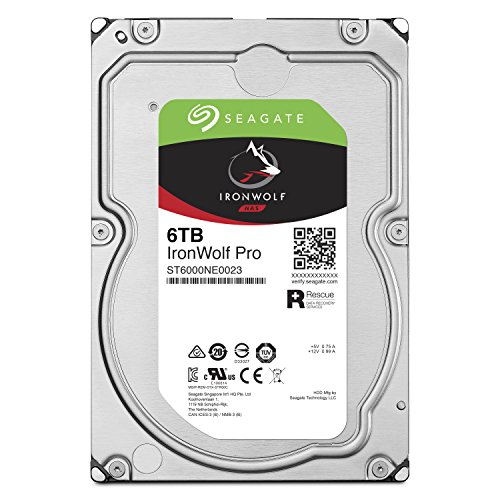 Seagate IronWolf Pro 6 TB NAS RAID Internal Hard Drive - 7,200 RPM SATA 6 Gb/s 3.5-inch (ST6000NE0023)