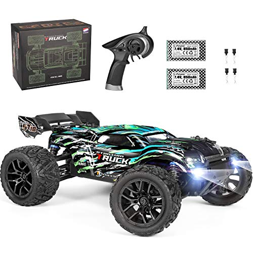 HAIBOXING RC Cars Hailstorm, 36+KM/H High Speed 4WD 1:18 Scale Electric Waterproof Truggy Remote Control Off Road Monster Truck with Two Rechargeable Batteries, RTR ALL Terrain Toys for Kids and Adult