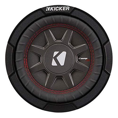 Kicker 43CWRT672 CompRT 6.75 Inch 300 Watts 2 Ohm Dual Voice Coil Shallow Slim Car Audio Subwoofer with Santoprene Surround and Polypropylene Cone
