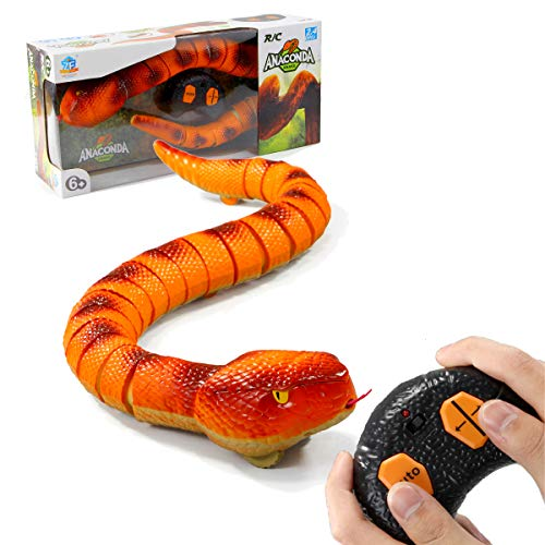 Remote Control Snake RC Python Toys Fake Snakes RC Snake Pet Toy with Infrared Receiver Electric Pet Toys Party Favors Party Supplies Halloween Pranks Joke for Kids Adults Gift