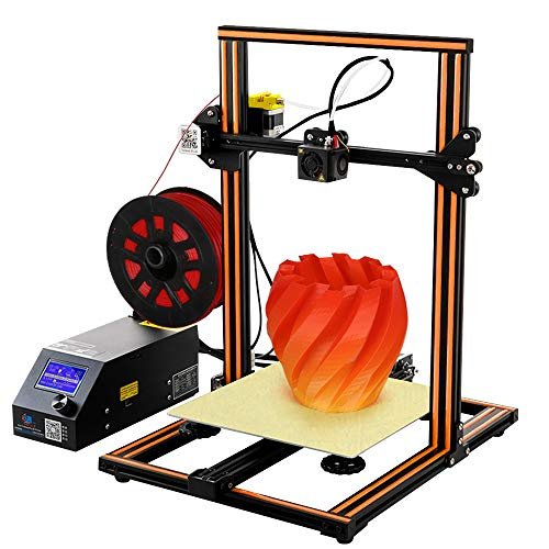 Creality CR-10S 3D Printer Aluminum with Upgraded Dual Leading Screw Heated Bed High-precisio Free Testing Filament+Free Tool Set (CR-10S Orange)