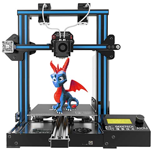 GIANTARM-GEEETECH New Upgrade A10M Mix-Color 3D Printer with Dual Extruder, Easy Assembly 3D Printer with Resume Printing, Filament Detector and Build Volume as 220x220x260mm