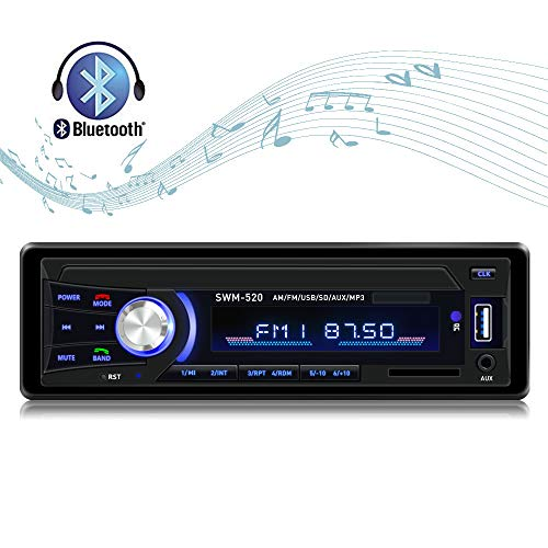 Car Stereo with Bluetooth Car Stereo Recevier Single Din in dash AM FM Car Radio USB SD AUX Input stereo for cars with Wireless Remote