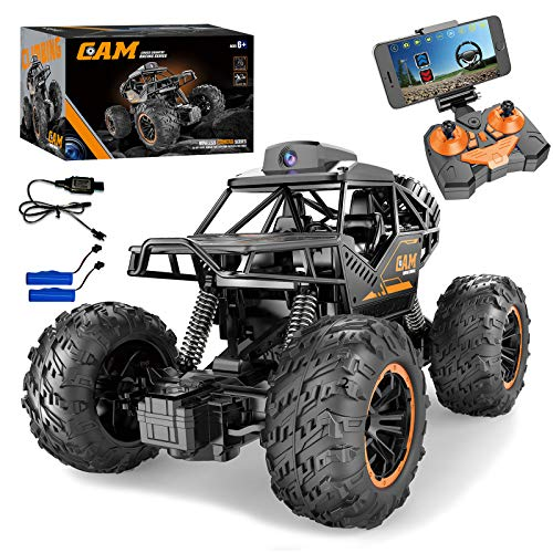 Remote Control Car with 720P HD FPV Camera, RC Cars with Carema, 1/18 Scale Off-Road Remote Control Truck, High Speed Monster Trucks for Toddlers Kids Adults, Gift for Boys and Girls