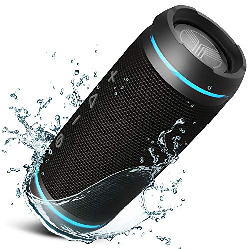 TREBLAB HD77 - Ultra Premium Bluetooth Speaker - Loud 360° HD Surround Sound, Wireless Dual Pairing, 25W Stereo, Loud Bass, 20H Battery, IPX6 Waterproof, Sports Outdoor, Portable Blue Tooth