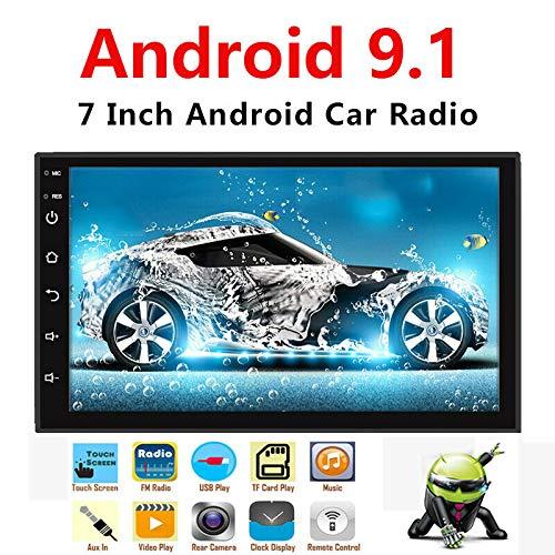 Binize Android 9.1 7 Inch HD Quad-Core 2 Din Car Stereo Radio Multimedia Player NO-DVD GPS Navigation in Dash AutoRadio Bluetooth/USB/WiFi (2G RAM+16G ROM)