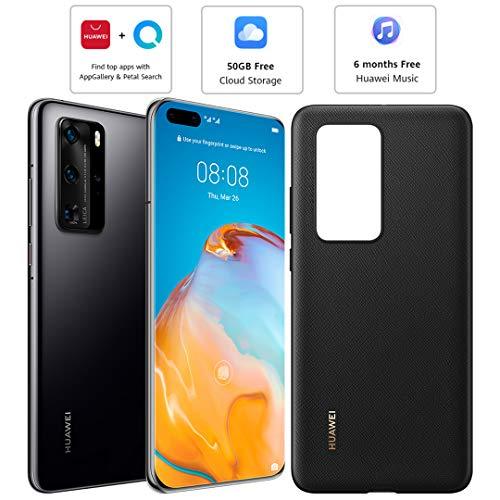Huawei P40 Pro (5G) ELS-NX9 Dual/Hybrid-SIM 256GB (GSM Only | No CDMA) Factory Unlocked Smartphone (Black) - International Version