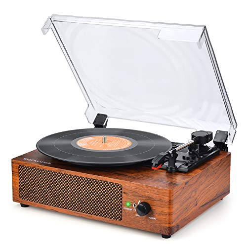 Record Player Turntable for Vinyl Records 3 Speed Vinyl Record Player with Stereo Speakers Belt Driven Vintage Record Player Vinyl Player Turntable with Speaker Portable Retro LP Player for Beginners