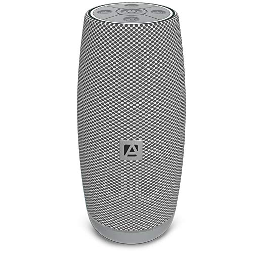 Aduro Resound XL Wireless Bluetooth Portable Speaker Loud Subwoofer Bluetooth 5.0 Audio Speaker with Crystal Clear Bass Stereo Sound - Silver