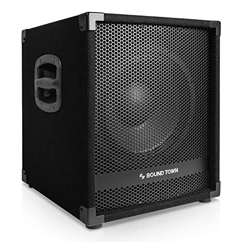 """Sound Town METIS Series 1400 Watts 12"""" Powered PA DJ Subwoofer with 3"""" Voice Coil (METIS-12SPW)"""