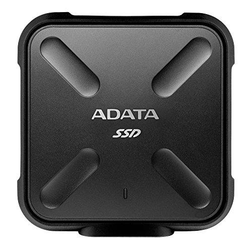ADATA SD700 3D NAND 1 TB Ruggedized Water/Dust/Shock Proof External Solid State Drive Black (ASD700-1TU3-CBK)