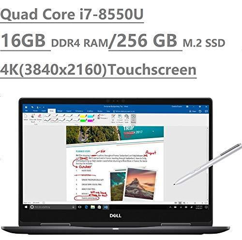 2019 Dell Inspiron 15 7000 7573 15.6' 4K UHD Touchscreen (3840x2160) 2-in-1 Laptop (Intel Quad-Core i7-8550U, 16GB DDR4, 256GB M.2 SSD, MX130 2GB) Backlit, HDMI, Type-C, Bluetooth, Windows 10 64-bit