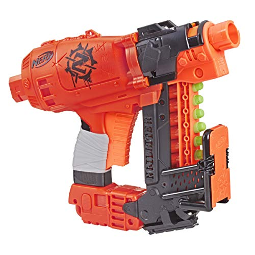 Nailbiter Nerf Zombie Strike Toy Blaster – 8 Official Nerf Zombie Strike Elite Darts, 8-Dart Indexing Clip – Survival System – For Kids, Teens, Adults